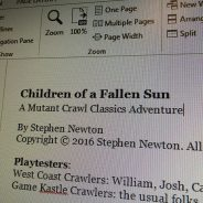 Upcoming Children of the Fallen Sun playtest sessions