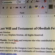 Coming Soon: The Last Will and Testament of Obediah Felkner